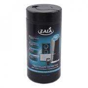 Салфетки влажные ZALA для пластиковых поверхностей, в тубе 100шт (ZL77300)