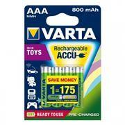 Аккумулятор AAA VARTA Ready2Use 800мА/ч Ni-Mh, 4шт, блистер (56703)
