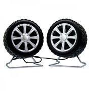 Колонки Perfeo Wheels, черные, USB (PF-038)