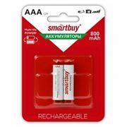 Аккумулятор AAA SmartBuy HR03-2BL 800мА/ч Ni-Mh, 2шт, блистер (SBBR-3A02BL800)