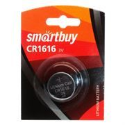 Батарейка CR1616 SmartBuy, 1 шт, блистер (SBBL-1616-1B)