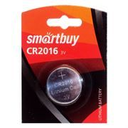 Батарейка CR2016 SmartBuy, 1 шт, блистер (SBBL-2016-1B)