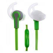 Гарнитура Perfeo Sport для мобильных устройств, зелено-серая (PF-SPT-GRN/GRY)