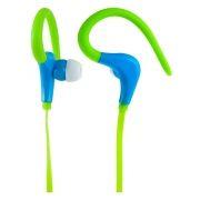 Наушники Perfeo FITNESS, зеленые/синие, с креплением за ухом, спортивные (PF-FNS-GRN/BLU)