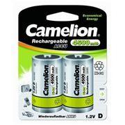 Аккумулятор D CAMELION NC-D4500BP2 4500мА/ч Ni-Cd, 2 шт, блистер