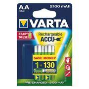 Аккумулятор AA VARTA Ready2Use 2100мА/ч Ni-Mh, 2шт, блистер (56706101412)