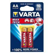 Батарейка AA VARTA LR6/2BL Max Tech, щелочная, 2 шт, в блистере (4706)