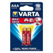 Батарейка AAA VARTA LR03/2BL Max Tech, щелочная, 2 шт, в блистере (4703)