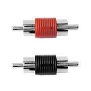 Адаптер  RCA plug - RCA plug, комплект 2 шт (красный, черный)