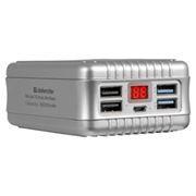 Зарядное устройство Defender ExtraLife Maxi с аккумулятором 30000 мА/ч, 4xUSB, серебристое (83613)