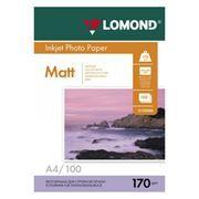 Бумага A4 LOMOND матовая двусторонняя 170 г/м, 100 листов (0102006)