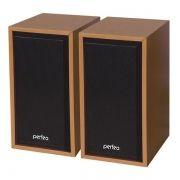 Колонки Perfeo Cabinet, бук дерево, USB (PF-84-WD)