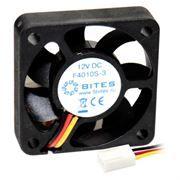 Вентилятор 40 x 40 x 10, 3 pin, 12V, втулка, кабель 25 см, 5bites (F4010S-3)