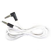 Кабель аудио 3.5 stereo plug -> 3.5 stereo plug, 1 м, угловой штекер, белый
