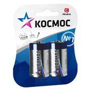 Батарейка C КОСМОС LR14, щелочная, 2шт, блистер (KOCLR14MAX2BL)