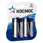 Батарейка D КОСМОС LR20, щелочная, 2шт, блистер (KOCLR20MAX2BL)