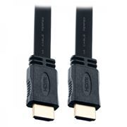 Кабель HDMI 19M-19M V1.4, 1.0 м, плоский, Perfeo (H1301)