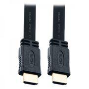 Кабель HDMI 19M-19M V1.4, 2.0 м, плоский, Perfeo (H1302)