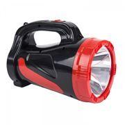 Фонарь-прожектор SmartBuy, аккумуляторный, зарядка 220В, черный, 5W (SBF-355-K)