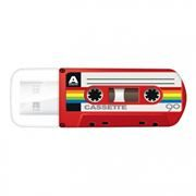 32Gb Verbatim Mini Cassette Edition Red USB 2.0 (49392)