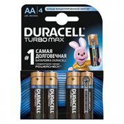Батарейка AA DURACELL TURBO MAX LR6-4BL, 4 шт, блистер