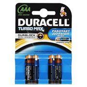 Батарейка AAA DURACELL TURBO MAX LR03-4BL, 4 шт, блистер