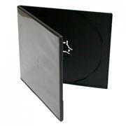 BOX 1 DVD Slim half 5mm, черный (коробочка на 1 DVD)