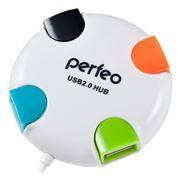 HUB 4-port Perfeo PF-VI-H020, белый
