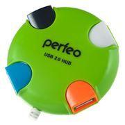 HUB 4-port Perfeo PF-VI-H020, зеленый