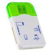 Карт-ридер внешний USB Perfeo PF-VI-R010, зеленый