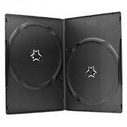 BOX 2 DVD Slim 7mm, черный (коробочка на 2 DVD)