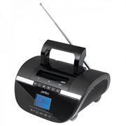 Мини аудио система Perfeo STILIUS Bluetooth, MP3, FM, часы-будильник, черная  (i350PRO-BK)