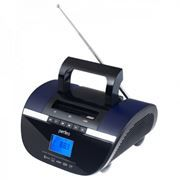 Мини аудио система Perfeo STILIUS Bluetooth, MP3, FM, часы-будильник, черный/фиолетовый (i350PRO-PR)