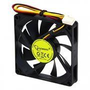 Вентилятор 80 x 80 x 15, 3 pin, 12V, подшипник качения, кабель 30 см, Gembird (D8015BM-3)
