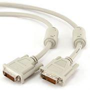 Кабель DVI-D Dual link (24+1) 3 м, экран, феррит.кольца, Gembird/Cablexpert (CC-DVI2-10)