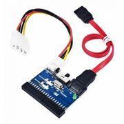 Переходник-адаптер интерфейсный 2-х направленный IDE-SATA/SATA-IDE, Gembird (SATA-IDE-2)