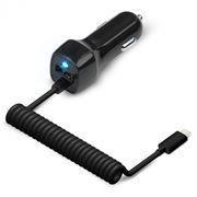 Зарядное автомобильное устройство Jet.A UC-I15, 12/24В 2.1А USB + Lightning, черное