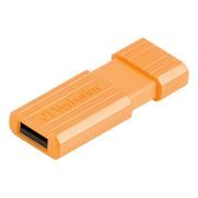 16Gb Verbatim PinStripe Volcanic Orange USB 2.0 (49069)