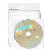 Конверт-файл на 2CD БЕЛЫЙ с перфорацией, 50шт