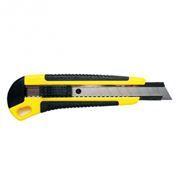 Нож с сегментированным лезвием 18 мм, обрезиненный пластик ABS, Rexant (12-4901)
