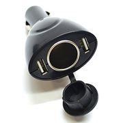 Зарядное автомобильное устройство Rexant W207, 1A 2xUSB + прикуриватель (16-0207)