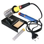 Набор для пайки (паяльник 30 Вт, оловоотсос, подставка, припой) Rexant ZD-303 (12-0163)