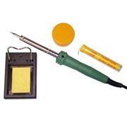 Набор для пайки №11 (паяльник 40Вт, подставка, губка, канифоль, припой) Rexant (12-0165)