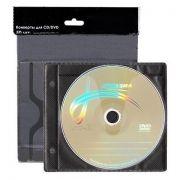 Конверт-файл на 2CD ЧЕРНЫЙ с перфорацией, 50шт