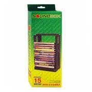 Подставка для дисков 15 DVD Sound Box DVD-15MT, черная
