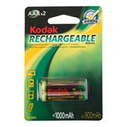 Аккумулятор AAA KODAK HR03-2BL 1000мА/ч Ni-Mh, 2шт, блистер (K3AHR-2)