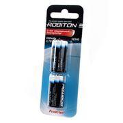 Аккумулятор 16340 (RCR123А) ROBITON 3.7В 550мА/ч, с защитой, 2 шт, блистер (12224)