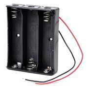 Отсек для элементов питания ROBITON Bh3x18650 с двумя проводами (12328)