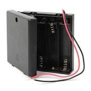 Отсек для элементов питания ROBITON Bh4xAA/switch, с выключателем, с двумя проводами (13127)