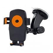Держатель автомобильный на присоске для устройств до 5, One touch, черн/орнж, Perfeo PH-502-2